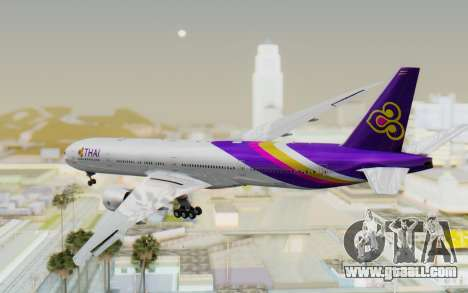 Boeing 777-300ER Thai International Airways for GTA San Andreas left view