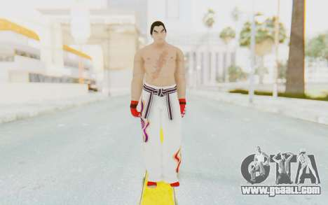 Kazuya Mishima Skin for GTA San Andreas second screenshot