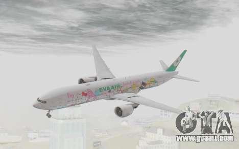 Boeing 777-300ER Eva Air v1 for GTA San Andreas back left view