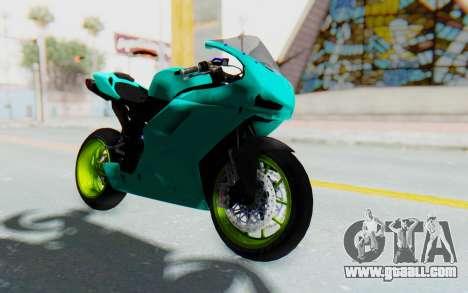 Ducati 1098R Streetrace for GTA San Andreas right view