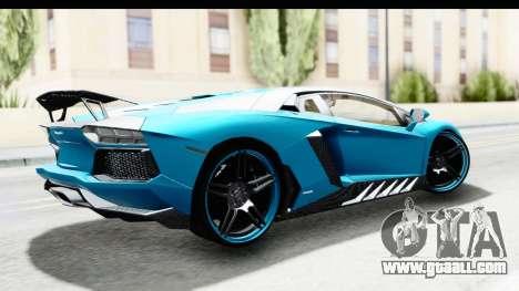 Lamborghini Aventador LP700-4 Novitec Torado for GTA San Andreas left view