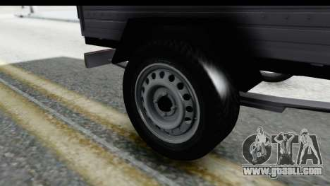 Volkswagen T4 Trailer for GTA San Andreas back view