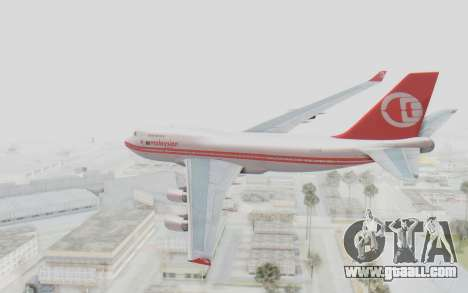 Boeing 747-200 Malaysia Airlines for GTA San Andreas left view
