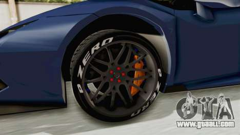 Lamborghini Huracan Stance Style for GTA San Andreas back view