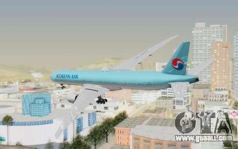 Boeing 777-300ER Korean Air for GTA San Andreas left view