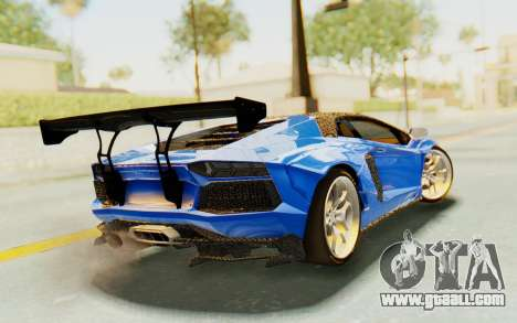 Lamborghini Aventador LP700-4 LB Walk Fenders for GTA San Andreas left view