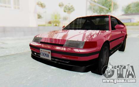 Dinka Blista Compact 1990 for GTA San Andreas back left view