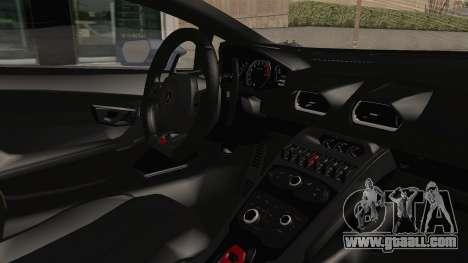 Lamborghini Huracan Stance Style for GTA San Andreas inner view