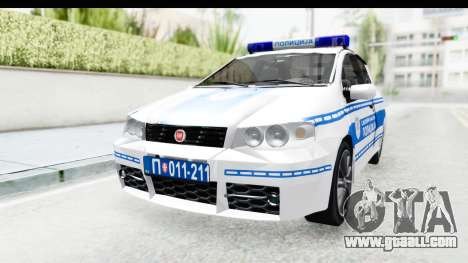 Fiat Punto Mk2 Policija for GTA San Andreas right view