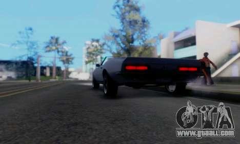 Chevrolet 369 Camaro SS for GTA San Andreas back view