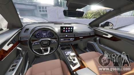 GTA 5 Audi A4 2017 [add-on] v1.1 front right side view