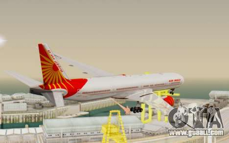 Boeing 777-300ER India Air for GTA San Andreas right view