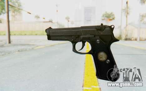 Tariq Iraqi Pistol Back v1 Black for GTA San Andreas second screenshot