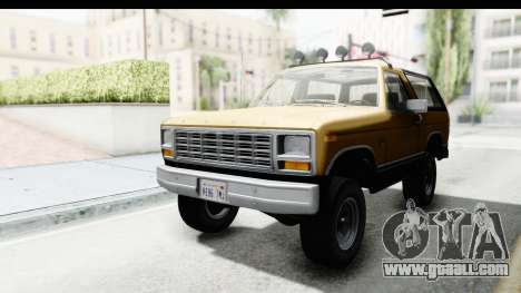 Ford Bronco 1980 Roof IVF for GTA San Andreas