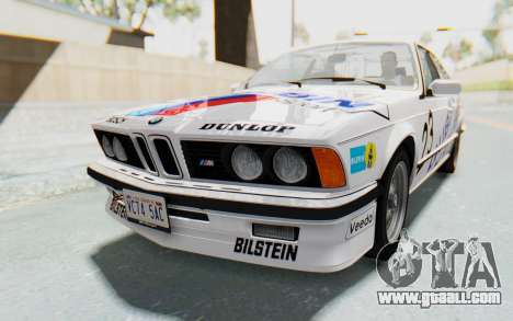 BMW M635 CSi (E24) 1984 HQLM PJ1 for GTA San Andreas engine