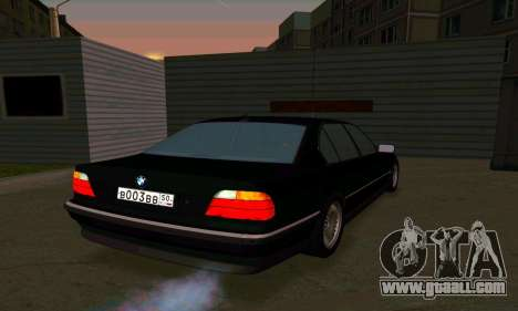 BMW 740i E38 for GTA San Andreas right view