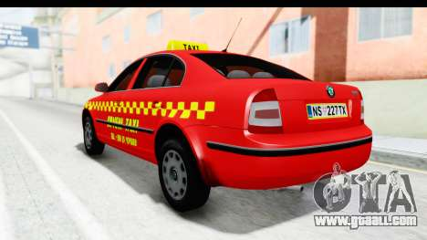 Skoda Superb Red Taxi for GTA San Andreas