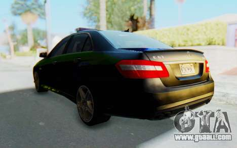 Mercedes-Benz E63 German Police Blue-Yellow for GTA San Andreas right view