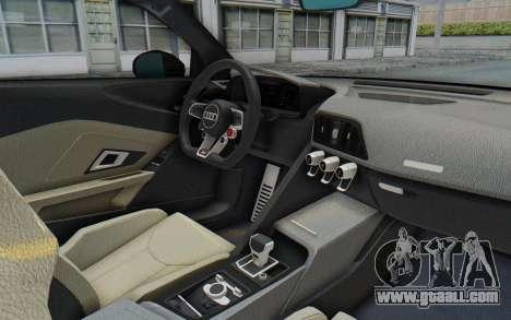 Audi R8 V10 Plus 2017 for GTA San Andreas back view