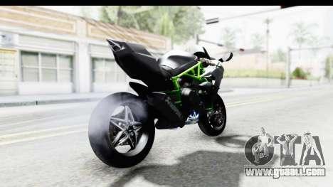 Kawasaki Ninja H2R Black for GTA San Andreas back left view