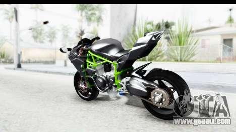 Kawasaki Ninja H2R Black for GTA San Andreas left view
