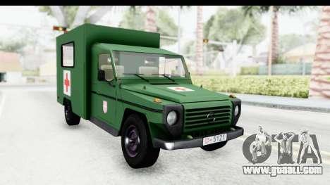 Mercedes-Benz Wolf Vojno Ambulantno Vozilo for GTA San Andreas