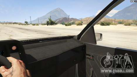 GTA 5 Chevrolet Kadett SL 2.0 Lowered rear right side view