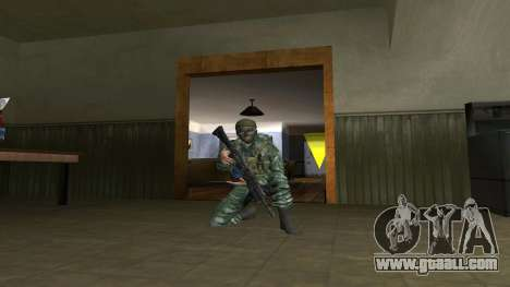 The airborne soldier in camouflage birch for GTA San Andreas third screenshot
