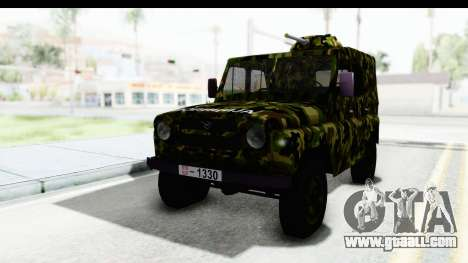 UAZ-469 Military police of Serbia for GTA San Andreas