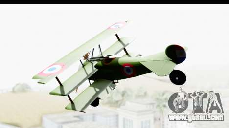 Fokker DR1 Old Paraguay Air Force for GTA San Andreas left view