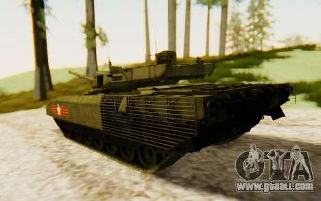 T-14 Armata for GTA San Andreas left view