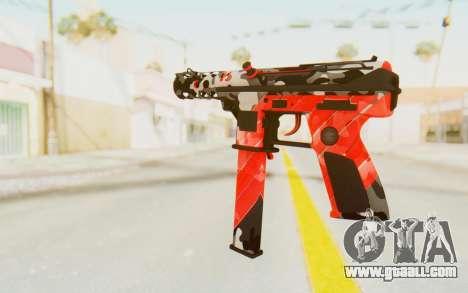Tec-9 Neural Red for GTA San Andreas second screenshot
