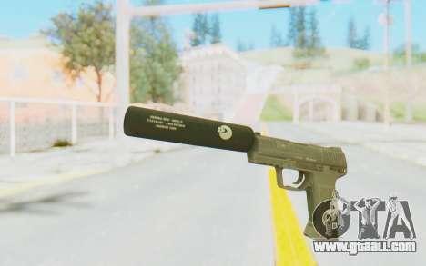 HK45 Silenced for GTA San Andreas second screenshot