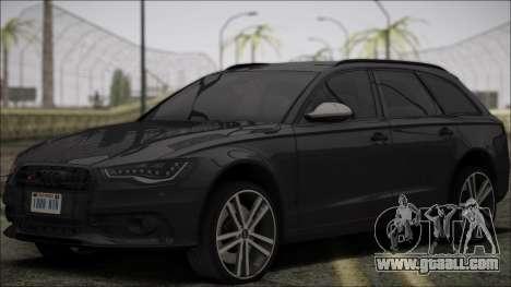 Audi S6 for GTA San Andreas inner view