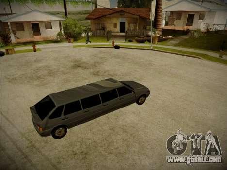 VAZ 2114 Devastadora HQ model for GTA San Andreas back left view
