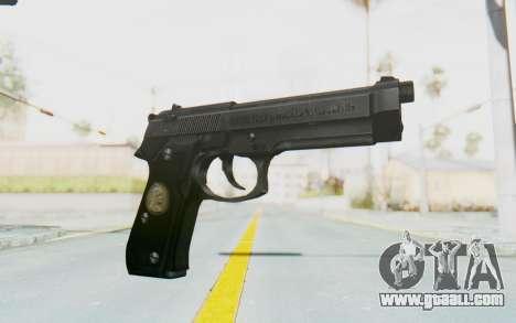 Tariq Iraqi Pistol Back v1 Black for GTA San Andreas