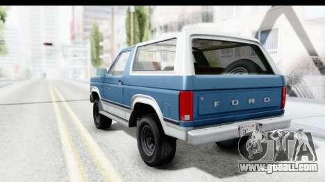 Ford Bronco 1980 for GTA San Andreas left view