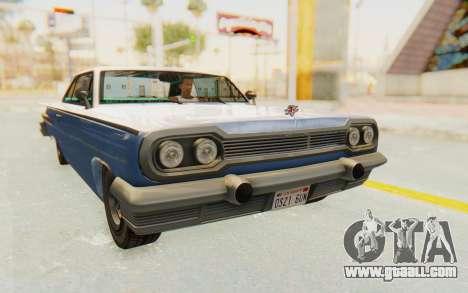 GTA 5 Declasse Voodoo Alternative v2 PJ for GTA San Andreas right view