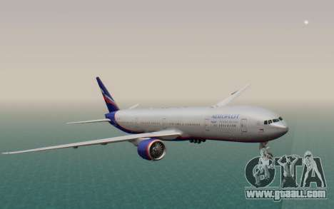 Boeing 777-300ER Aeroflot for GTA San Andreas back left view