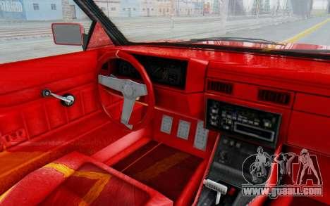 GTA 5 Willard Faction Custom Donk v2 IVF for GTA San Andreas inner view