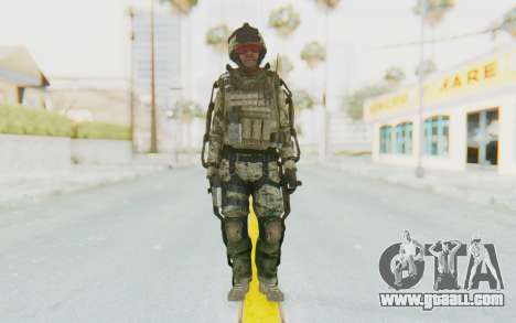 CoD AW US Marine Assault v3 Head C for GTA San Andreas second screenshot