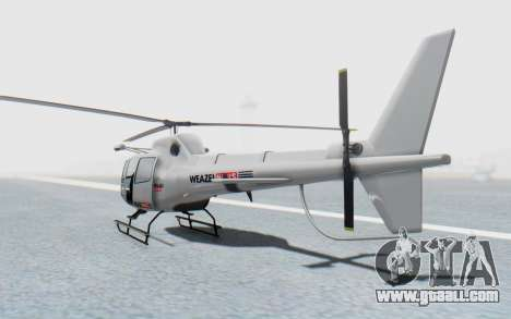 GTA 5 News Chopper Style Weazel News for GTA San Andreas left view