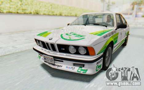 BMW M635 CSi (E24) 1984 HQLM PJ2 for GTA San Andreas engine