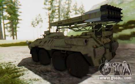 MGSV Phantom Pain ZHUK APC Tank for GTA San Andreas left view