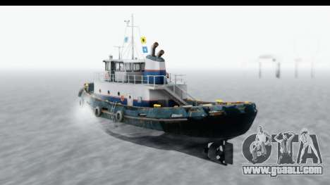 GTA 5 Buckingham Tug Boat v2 for GTA San Andreas left view