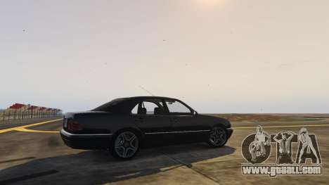 GTA 5 Mercedes-Benz W210 v1.0 rear left side view