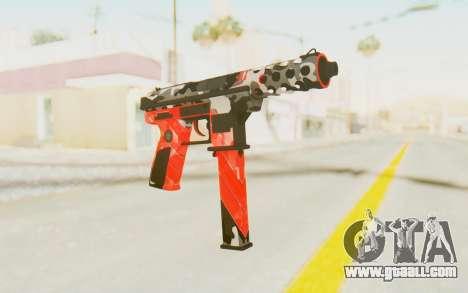 Tec-9 Neural Red for GTA San Andreas