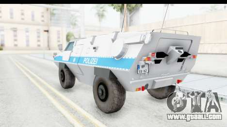 Hermelin TM170 Polizei for GTA San Andreas left view