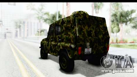 UAZ-469 Military police of Serbia for GTA San Andreas left view