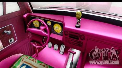 GTA 5 Vapid Slamvan Custom IVF for GTA San Andreas inner view